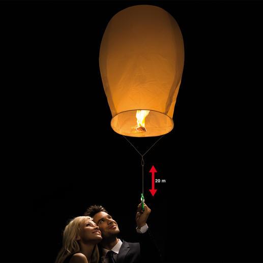 """Himmelslaterne """"Luminaria"""", 3er-Set - Leuchtender Blickfang: Die romantische Himmelslaterne schwebt sicher in bis zu 20 Metern Höhe."""