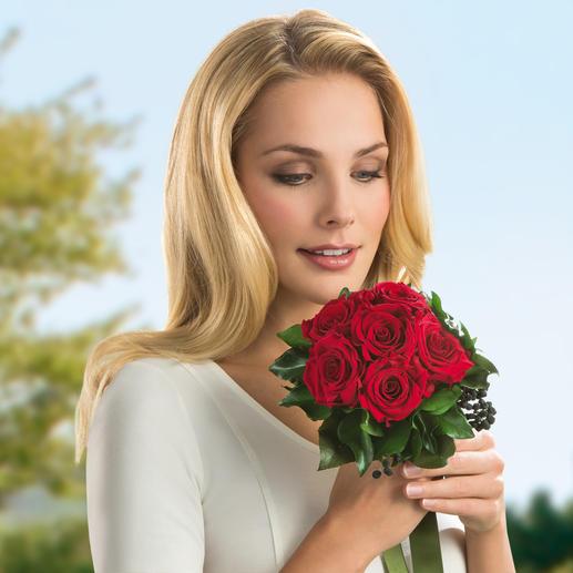 Das 6-Rosen-Bouquet ist auch als Blumenstrauss zum Valentins- oder Muttertag, Geburtstag, Hochzeitstag, … ideal.