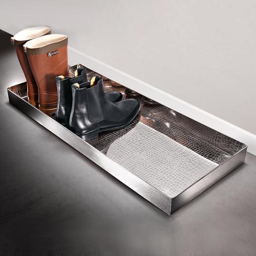 """Boot-Tray """"Alligator"""" Eleganter Abstellplatz für nasse Schuhe und schmutzige Stiefel."""