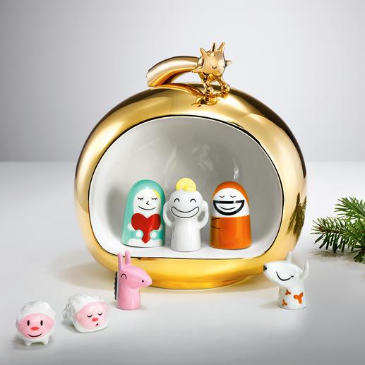 """Alessi """"Weihnachtskrippe"""" - Pfiffig, freundlich, farbenfroh – ein echter Hingucker aus kostbar handbemaltem Porzellan."""