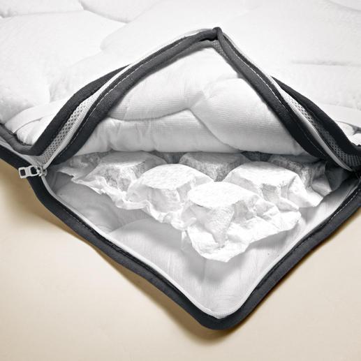 Mehr als 500 elastische Taschenfedern stützen Ihren Körper punktgenau – und sorgen für eine stetige Belüftung.