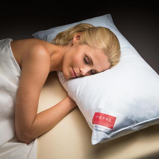 Hefel Cool-Kissen - Tiefer, erfrischender Schlaf in heissen Nächten. Leitet Wärme von Kopf, Gesicht und Nacken weg.