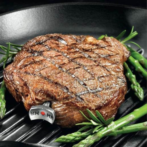 SteakChamp® 3-color - Misst vollautomatisch die Kerntemperatur, berücksichtigt die Ruhephase & informiert über den gewünschten Gargrad.