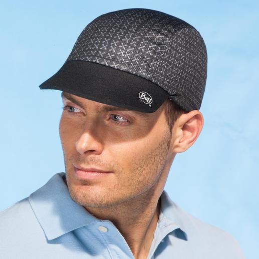 Einfach wenden, so können Sie die Kappe auch in den Negativ-Farben tragen.