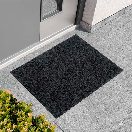 Flache Schmutzmatte - Passt unter nahezu jede Tür: die ultraflache Schmutzmatte aus saugstarker Polyamid-Faser.