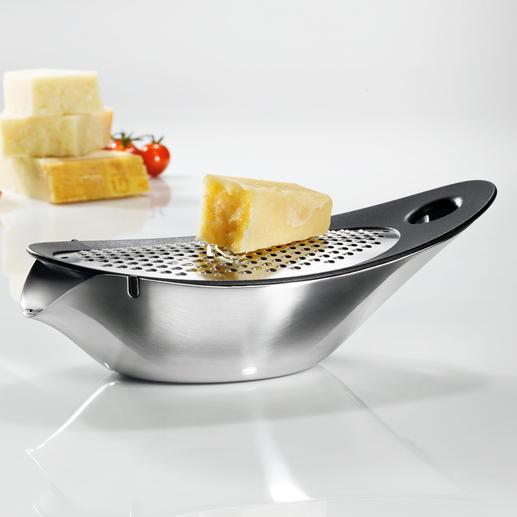 blomus® Design-Käsereibe - Elegantes Design. Krümelfrei und servierfertig. Integrierte Auffangschale mit Schütte.