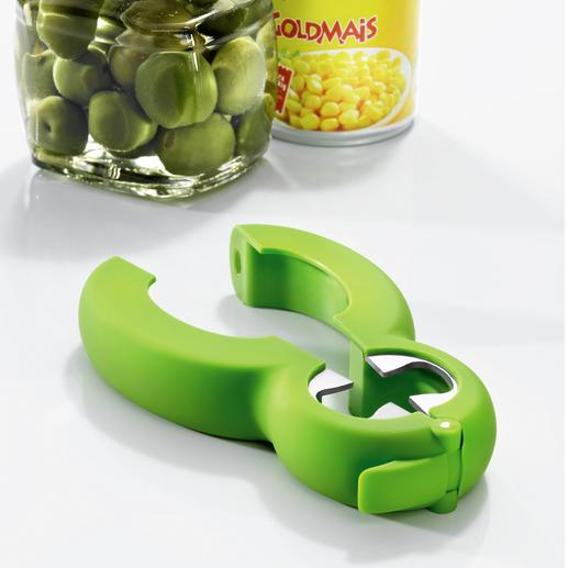 Multi-Öffner 6-in-1 - Nur ein Öffner – für Flaschen, Zugring und Getränkedosen, Gläser, Tüten ...