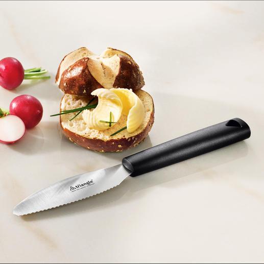 triangle® Frühstücksmesser Perfekt zum Schneiden und Streichen. Aus gehärtetem rostfreiem Edelstahl mit breiter Klinge.