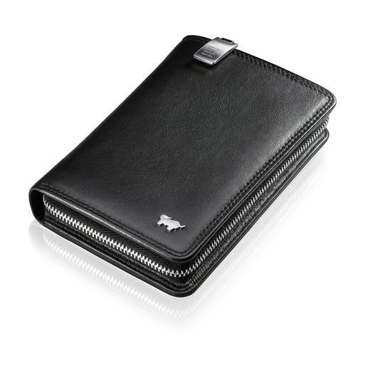 Braun Büffel Handy-Börse - Alle Wertsachen gut geschützt am Körper – und mit einem Griff zur Hand.