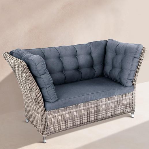 Polyrattan-Lounge-Möbel - Mit extrahohen Rücken- und Seitenlehnen. Zum Hineinschmiegen schön. Aus wetterfestem Polyrattan.