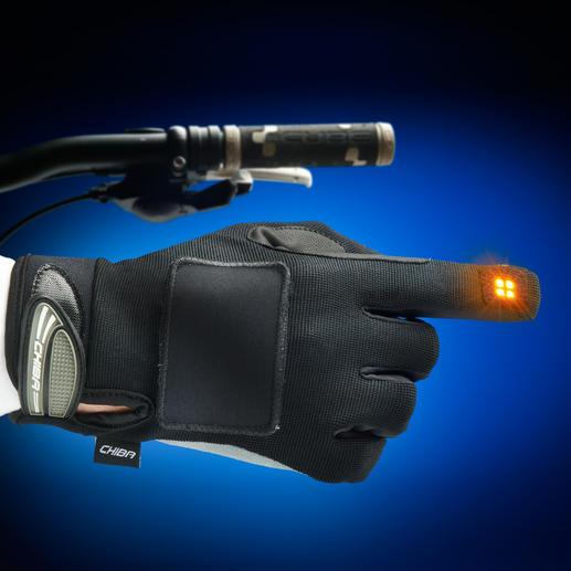 Blinker-Handschuh - Mehr Sicherheit für Radfahrer: Der Blinker im Handschuh.