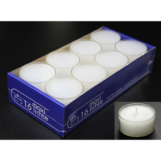 Maxi-Teelichter, 16 Stück (separat erhältlich)