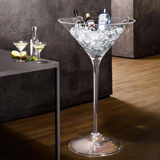 XXL-Cocktail-Glas - Viel bestaunt als Obstschale, für Blumen & mehr. Perfekt auch als Getränkekühler – der Clou für Gäste und Feste.