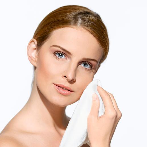 """""""Micro Peeling""""-Gesichtstuch, 2er-Set oder """"Micro Peeling""""-Rückentuch Feinste Mikrofaser glättet und reinigt Ihre Haut porentief."""