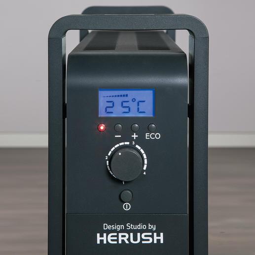 Gradgenau einstellbar – bis zu einer Raumtemperatur von 32 °C.