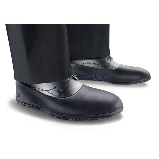 Antirutsch-Überschuhe flach oder Pumps - Zuverlässig bei Eis, Schnee und Nässe. Wasserdichte Überzieher halten Ihre Füsse trocken & schonen Ihre Schuhe.
