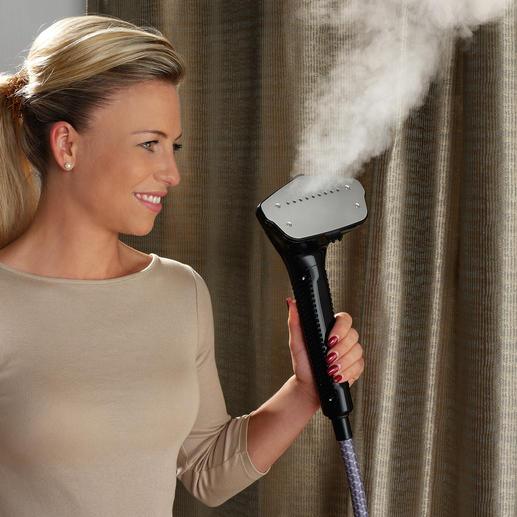 5-mal schneller und viel schonender als Bügeln: Glätten Sie Ihre Kleidung einfach mit trocken-heissem Wasserdampf.