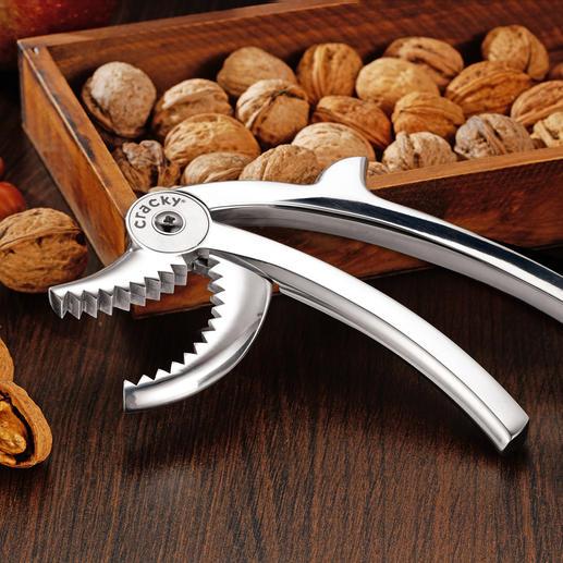 Nussknacker Cracky - Nüsse knacken wie ein Eichhörnchen. Spielend leicht – dank kraftvoller Zähne und perfekter Hebelwirkung.