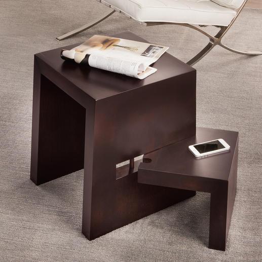 Design-Stufenhocker - Aus massivem Buchenholz. Perfekt als Beistelltisch, Sitz- und Steigmöglichkeit.