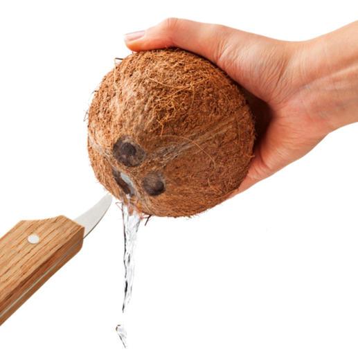 Einfach die Kokosmilch abfliessen lassen ...