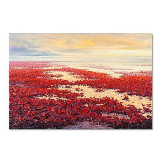 """Pei Lian Zhi: """"Spring"""" - Einer der erfolgreichsten chinesischen Künstler: Pei Lian Zhi. Edition 100 % von Hand gefirnisst. 100 Exemplare."""