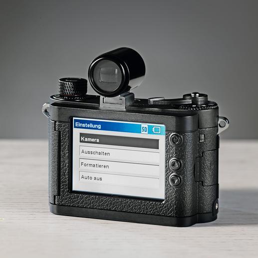 Von vorne nicht erkennbar: Die MINOX DCC 14.0 ist mit allen zeitgemässen Funktionen ausgerüstet.