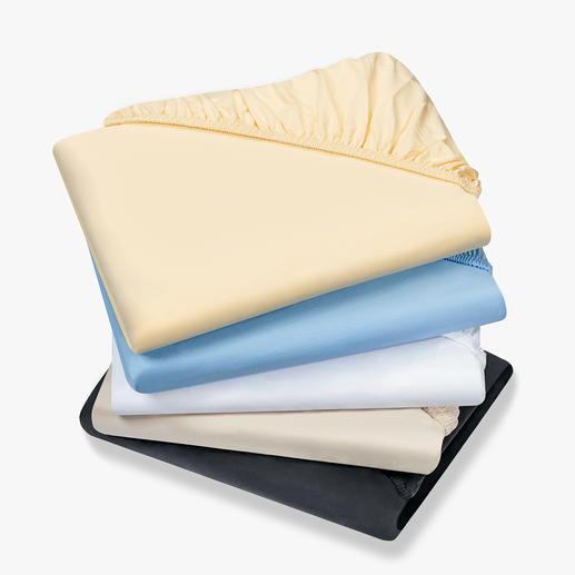 Luxus-Spannbetttuch Endlich knitterfrei. Extra schwerer Baumwoll-Jersey (230 g/m²).