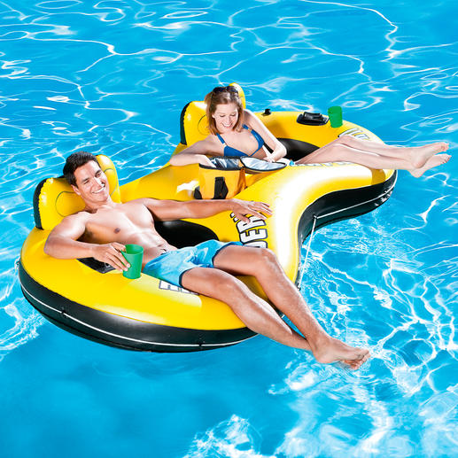 """Aufblasbarer Badesessel """"Duo"""" - Komfortabler Badespass für zwei. Zweifache Erfrischung."""