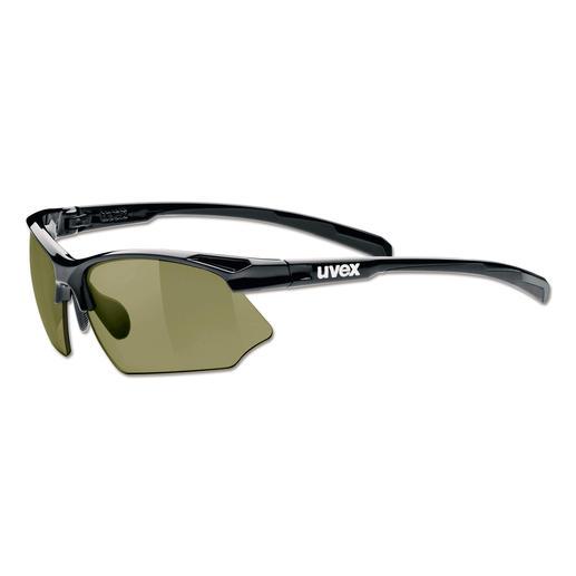 Golfbrille uvex sportstyle 615 IR - Die ultimative Golf-Sonnenbrille: macht Breaks und Unebenheiten sichtbar. Zugleich eine perfekte Allround-Freizeitbrille.