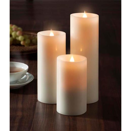 """LED-Kerze """"3D-Flamme"""" Die neue Generation LED-Kerzen: noch natürlicher, romantischer, stimmungsvoller."""