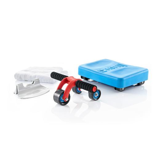3-Rad-Bauchmuskel-Roller - Die Weiterentwicklung des klassischen AB-Rollers: 3 kleine Räder statt eines grossen.