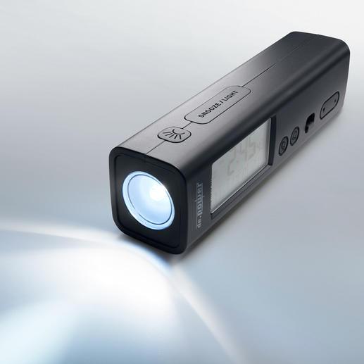 Ideal im Notfall: Eine Taschenlampe ist gleich im Gepäck dabei.