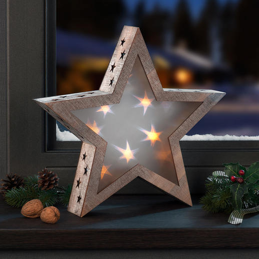 Hologramm-Stern Stimmungsvolles Sternenlicht, das jeden Raum verzaubert.