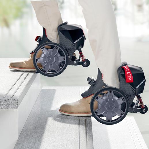 Praktisch beim Treppensteigen: Da die Fussspitzen frei bleiben, ist auch normales Laufen möglich.