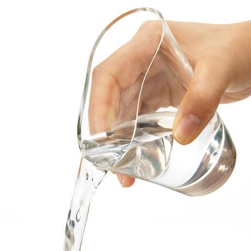 Optisch von Glas nicht zu unterscheiden. Dank flexiblem Silikon jedoch absolut unzerbrechlich.