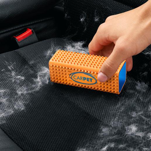 Tierhaar-Entferner CarPet™ - Schluss mit Tierhaaren auf Polstern, Teppichen, Decken, ... Entfernt den störenden Belag sauber und restlos.
