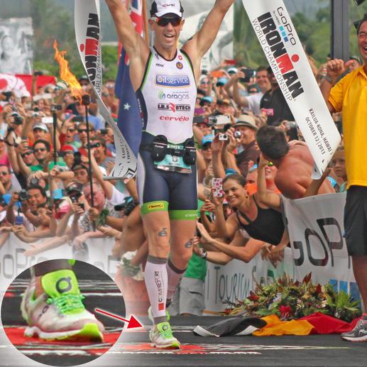 """Auch Frederik van Lierde ist von Xtenex überzeugt. Er trug das Schnürsystem """"Sport"""" beim Ironman Hawaii 2013 – und siegte."""