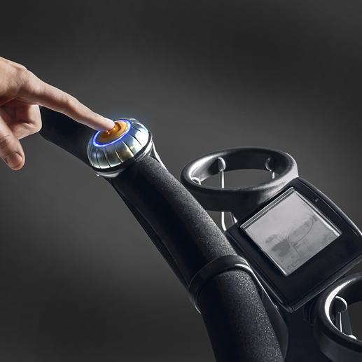 Mit einem Fingertipp falten Sie Ihren High-End-Buggy zusammen.