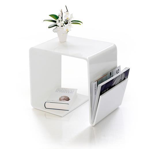 Acryl-Beistelltisch - Schlicht, schick, hochglänzend. Couchtisch und Ablage. Hält zudem Laptop, Zeitungen und mehr.