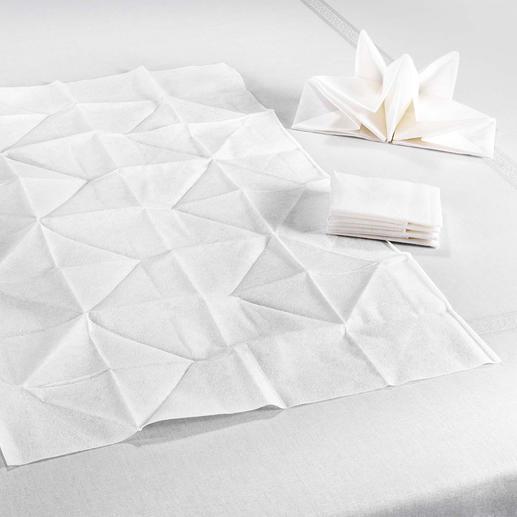 Statt oft nur 33x 33cm sind diese Origami-Servietten üppige 60x 40cm gross.