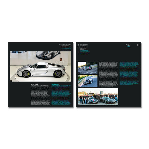 Jeder Porschetyp ist detailliert beschrieben und anschaulich, z. T. doppelseitig dokumentiert.