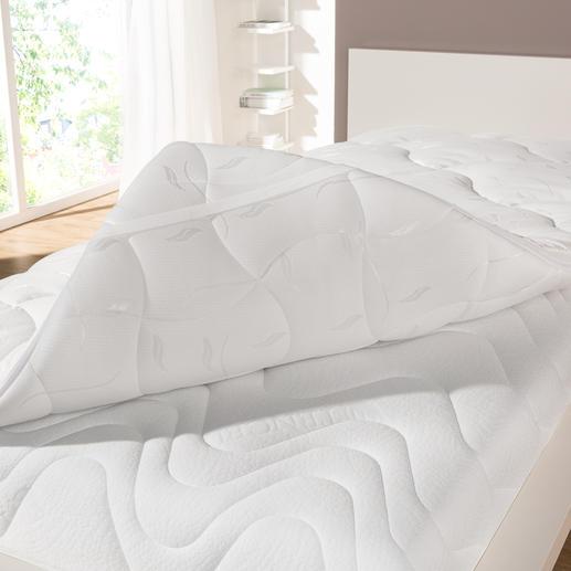 Für die Winterseite wird statt oft üblicher 1-Loch-Hohlfaser die besonders wärmereflektierende Warmmax® 4-Loch-Hohlfaser verwendet.