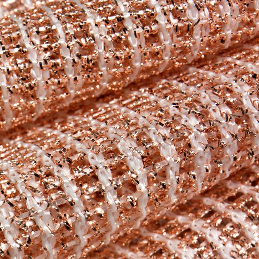 Das doppellagige Kupfergeflecht ist dicht verwebt mit starkem Polyamid.