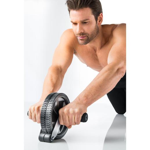 Bauchmuskel-Roller mit Stopper - Der sicherere Bauchmuskeltrainer hat einen Stopper. Verbesserte Neuauflage des klassische AB-Rollers.