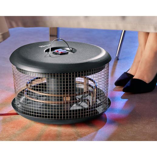 Wärmepilz Bellardor - Handlich, energiesparend, sicher und preisgünstig. Sorgt immer für wohlig warme Füsse - outdoor und indoor.