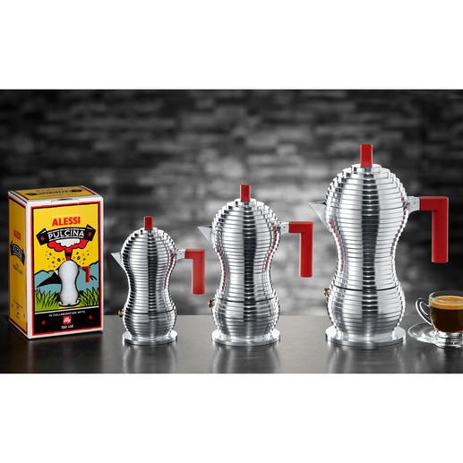 """Den Design-Espressokocher """"Pulcina"""" gibt es in 3 Grössen."""