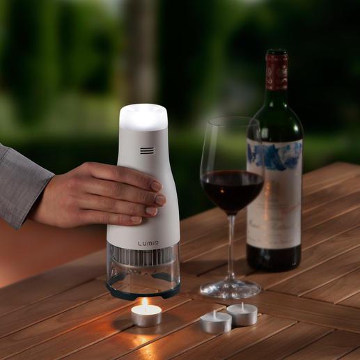 Kerzenbetriebene LED-Leuchte Lumir C - Stimmungsvolles LED-Licht – unabhängig von Steckdose, Batterien, Sonnenenergie.