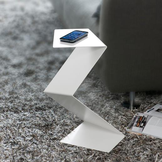 """""""Geknickter"""" Diener Zugleich Skulptur, Piedestal und Beistelltisch – in aussergewöhnlichem Design."""