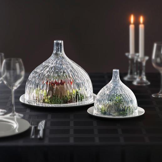 Haube Dome, klar facettiert - Mit dieser eleganten Haube sind Kuchen, Käse und Wurst, Früchte... gut geschützt. Und besonders edel präsentiert.