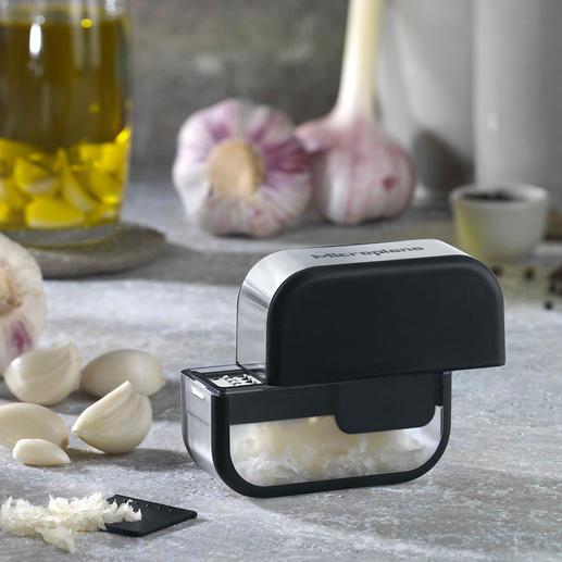 Microplane® Knoblauchschneider - Knoblauch sauber schneiden - statt pressen, zerreiben, zerquetschen.